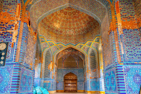 Thatta Shah Jahan Mosque Picturesque View of the Ceiling on a Sunny Blue Sky Day