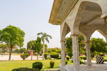 Multan Shah Shams Park Picturesque Breathtaking View of a Pavilion on a Sunny Blue Sky Day