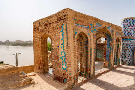 Sukkur Sateen Jo Aastan Tomb of Seven Sisters Resting Place Picturesque View on a Sunny Blue Sky Day