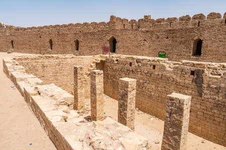 Khairpur Kot Diji Fort with Picturesque View of Courtyard on a Sunny Blue Sky Day Stock Photo