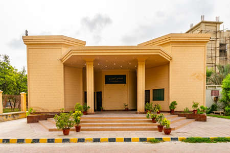Karachi National Museum Picturesque Breathtaking View of the Building on a Cloudy Sky Day Editorial