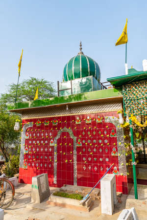 Lahore Miani Sahib Graveyard Islamic Cemetery Picturesque View of Shrine on a Sunny Blue Sky Day