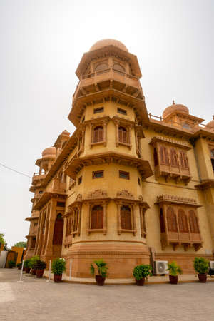 Karachi Mohatta Palace Museum Picturesque View at Hatim Alvi Road on a Cloudy Day Editorial