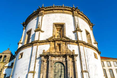 Porto Claustros do Mosteiro da Serra do Pilar Monastery Breathtaking Picturesque View on a Blue Sky Day in Winter 版權商用圖片