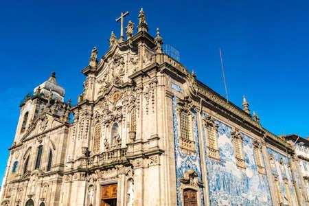 Porto Igreja das Carmelitas Carmo Church Breathtaking Picturesque View on a Blue Sky Day in Winter 版權商用圖片