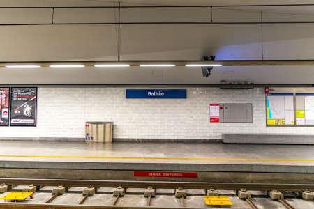Porto Metro Public Transport Breathtaking Picturesque Interior View of the Bolhao Subway Station