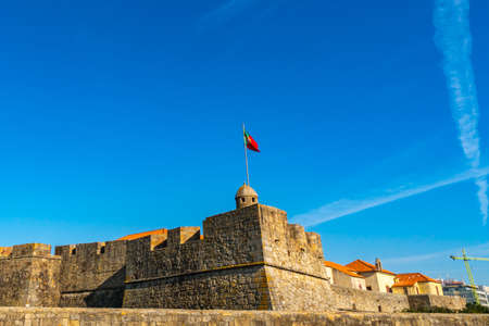 Porto Fort of Saint John the Baptist at Praia dos Ingleses Beach Picturesque View on a Sunny Blue Sky Day