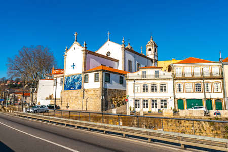 Porto Igreja dos Massarelos Church Breathtaking Picturesque View on a Blue Sky Day in Winter