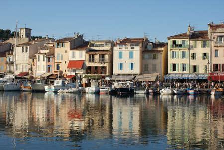 Portside view of Mediterranean town