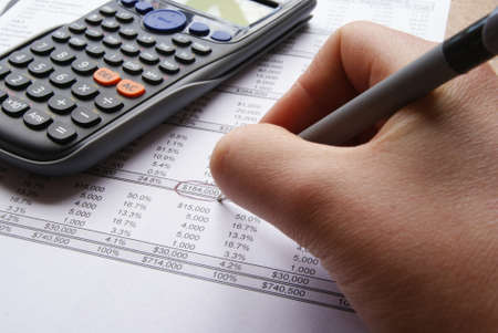 Accounts and charts with business equipment Stock Photo - 15917109