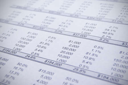 Accounts and charts with business equipment photo