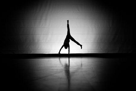 Cartwheel Silhouette photo