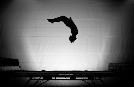 somersault: trampoline silhouette