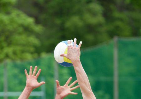 pelota de voley: smash de voleibol de playa