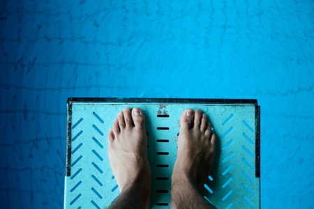 springboard: los pies en trampolín Foto de archivo