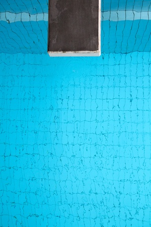 diving swimming pool: one meter diving platform