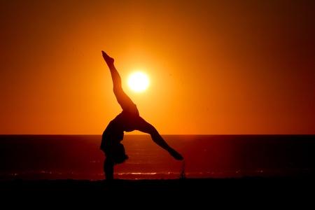 buen vivir: puesta del sol se divide Foto de archivo