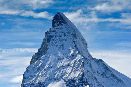 zermatt: matterhorn in winter