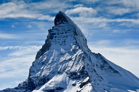 matterhorn in winter photo