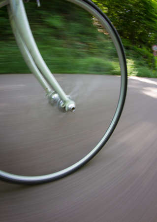 bike wheel: bicycle wheel in motion