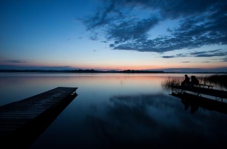 wooden dock: wooden dock at german lake