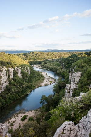 canyon of chassezac in southern france