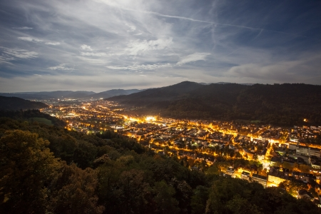 Freiburg at night