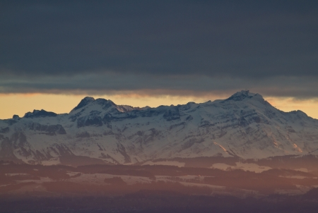 saentis view from lake constance photo