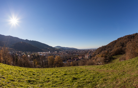 arial views: view over freiburg