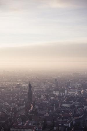 freiburg: misty Freiburg