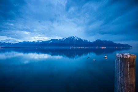 leman: lac leman in winter
