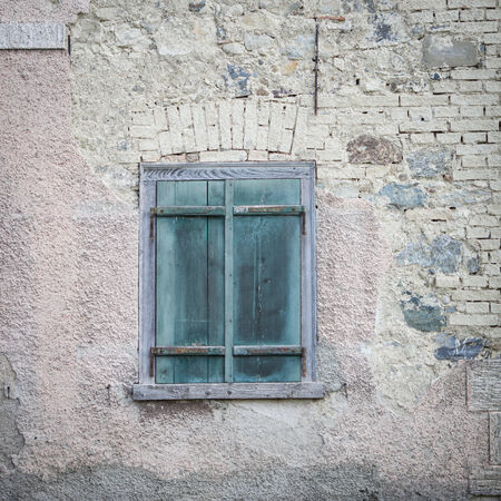 roughness: old green window shutters