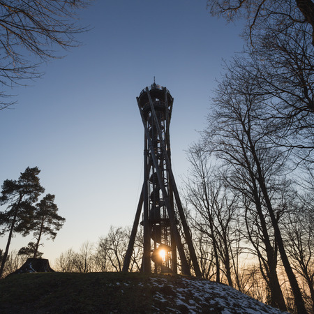 freiburg: touristic viewing tower in Freiburg, Germany