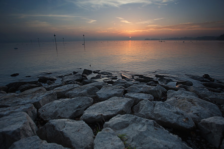 lake constance sunset photo