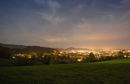 freiburg: city of Freiburg at night