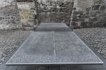 tabletennis: outdoor stone tabletennis table