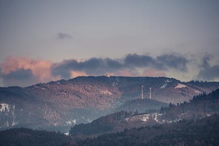 freiburg: schauinsland mountain near Freiburg in winter