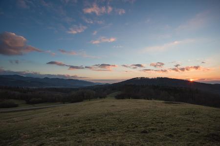 freiburg: sunset near Freiburg, Germany Stock Photo