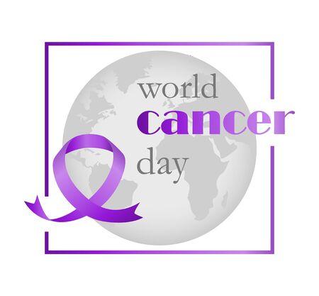 February 4 world cancer day. Ilustracja