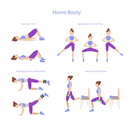 A set of exercises for the buttocks muscles