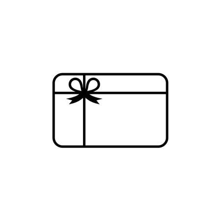 Gift card icon vector logo design black symbol isolated on white background. Vector EPS 10.