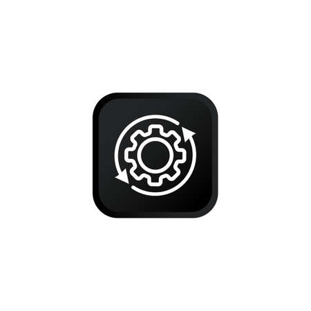 Process icon modern button design black symbol isolated on white background. Vector EPS 10