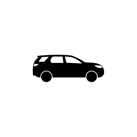 Car icon in black simple design on an isolated background. EPS 10 vector. Vektorové ilustrace