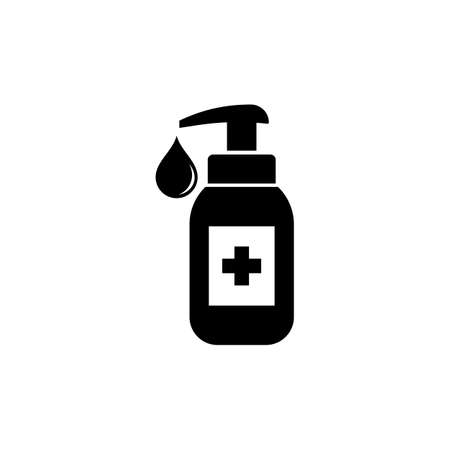 Hand sanitizer icon isolated on white background. EPS 10 vector