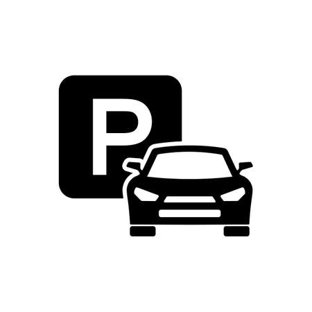 Car parking sign icon on isolated white background. EPS 10 vector. Illustration