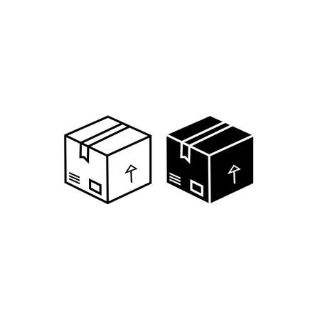 Delivery box, tracking order icon. Parcel, package on isolated background. Eps 10 vector