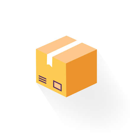 Delivery box, tracking order icon. Parcel, package on isolated background.