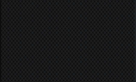 Black background. Black upholstery. Geometric pattern rhombus .  イラスト・ベクター素材