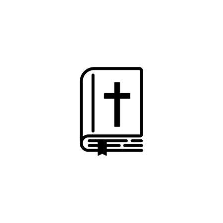 Bible icon. Vector on isolated white background.