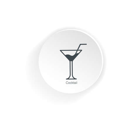 Cocktail icon isolated on white background.